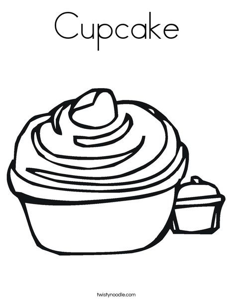 Cupcake Coloring Page Twisty Noodle Cupcake Coloring Pages Birthday Coloring Pages Coloring Pages
