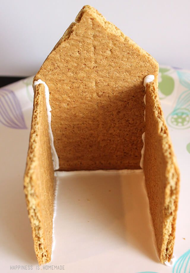 How to make a graham cracker gingerbread house step 4 easter how to make a graham cracker gingerbread house step 4 easter pinterest graham cracker gingerbread house gingerbread and winter ideas solutioingenieria Image collections