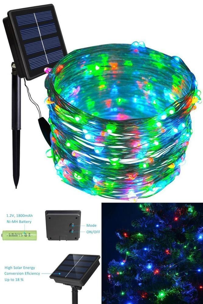 55FT150 LED String Fairy Wire Lights Christmas Multiple Color ...