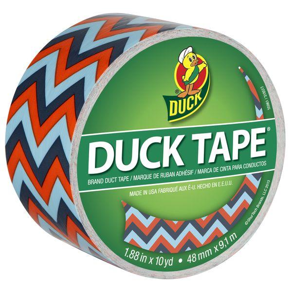 Printed Duck Tape® - Blue Chevron | Duck® Brand