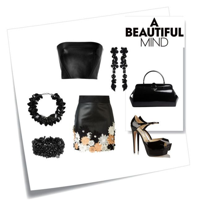 """""""A Beautiful Mind"""" by holquincrystal on Polyvore featuring Post-It, Emanuel Ungaro, David Koma, Brian Atwood, Prada, First People First and Valentino"""