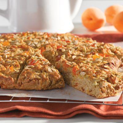 Whole Grain Apricot Scones (Intermediate; 12 scones) #apricot #scones