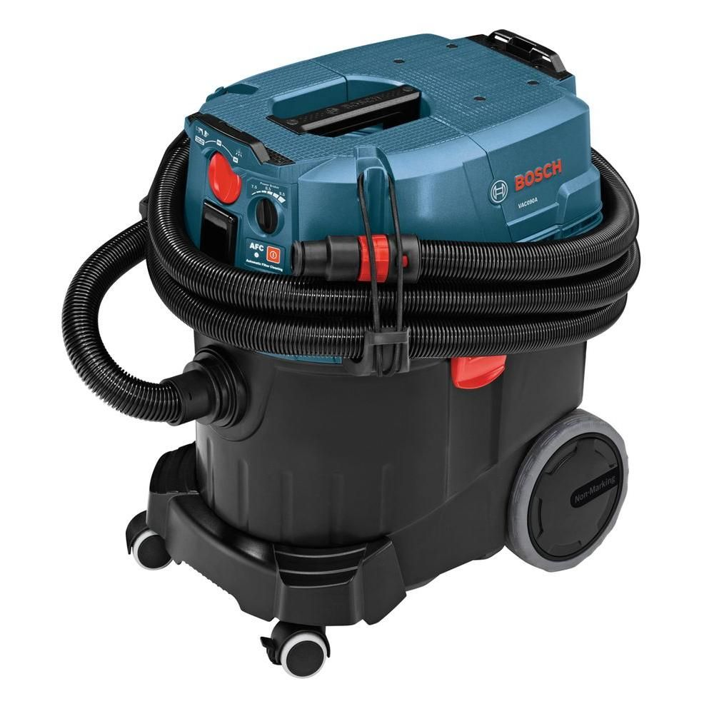 Bosch 9 Gallon Corded Wet Dry Dust Extractor Vacuum With Automatic Filter Clean Vac090a The Home Depot Dust Extractor Cleaning Dust Shop Vacuum