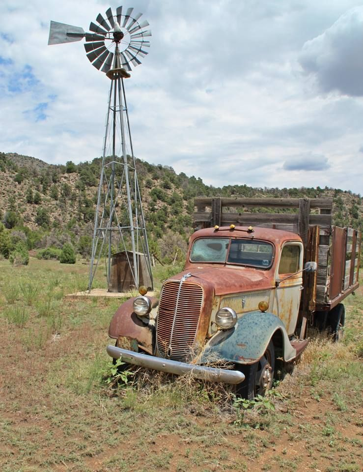 old ford truck photo by les riggs old trucks in 2019 windmill trucks old windmills. Black Bedroom Furniture Sets. Home Design Ideas