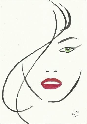 Visage De Femme Contour Recherche Google Drawing People