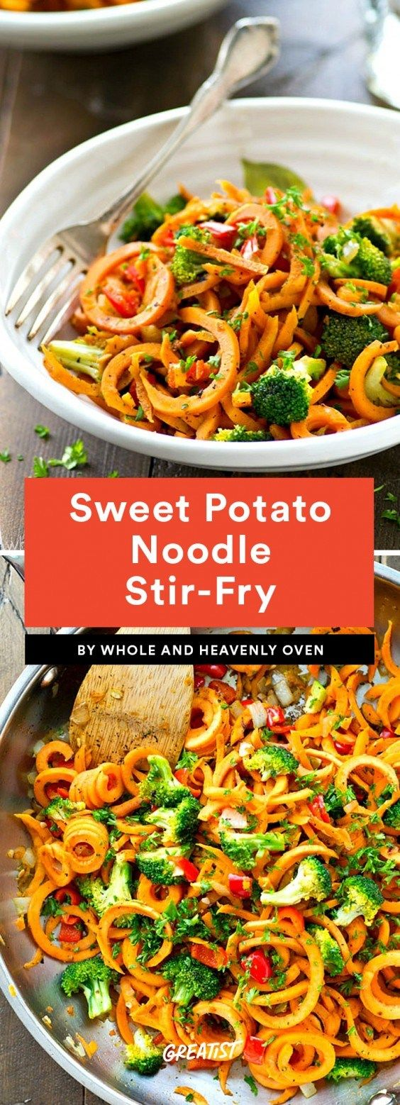 9 Sweet Potato Noodle Recipes That Are a Perfect Pasta Replacement -   18 healthy recipes Pasta veggie noodles ideas