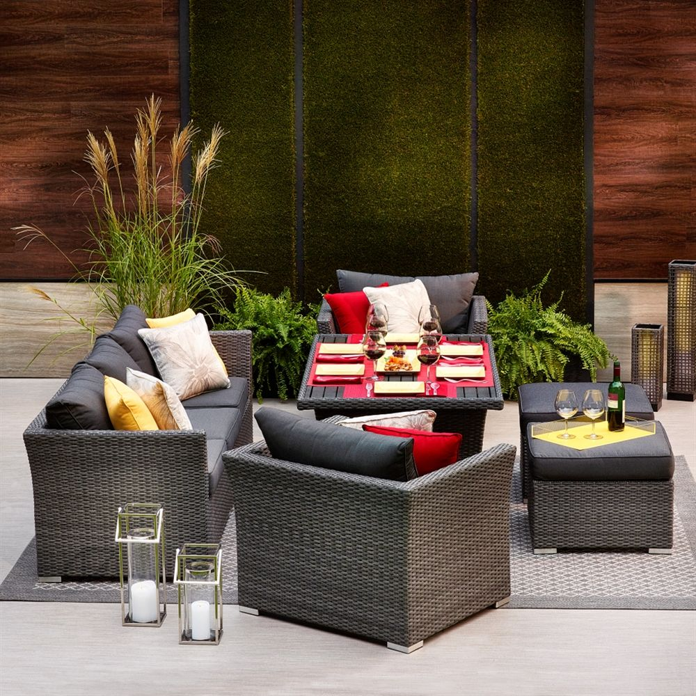 Shop Allen + Roth Prescott 6 Piece Wicker Conversation Set At Loweu0027s  Canada. Find