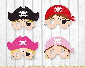 Mascaras De Piratas Descarga Directa Fiestas Infantiles De
