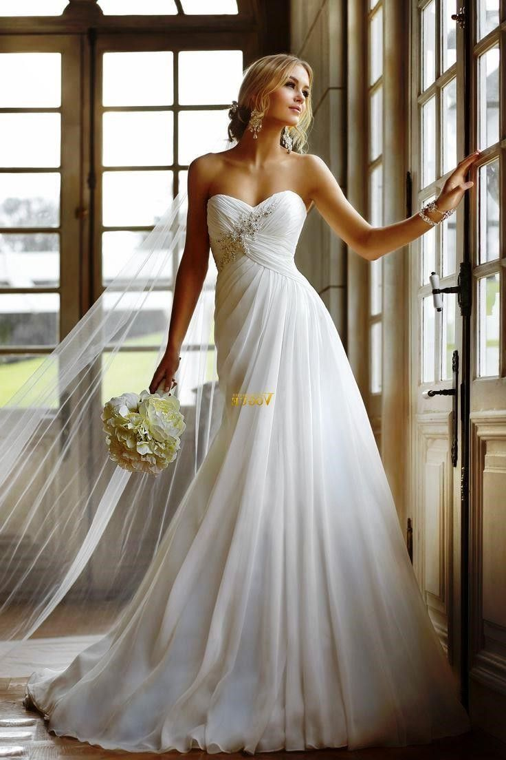 Beautiful Long Strapless Wedding Dresses