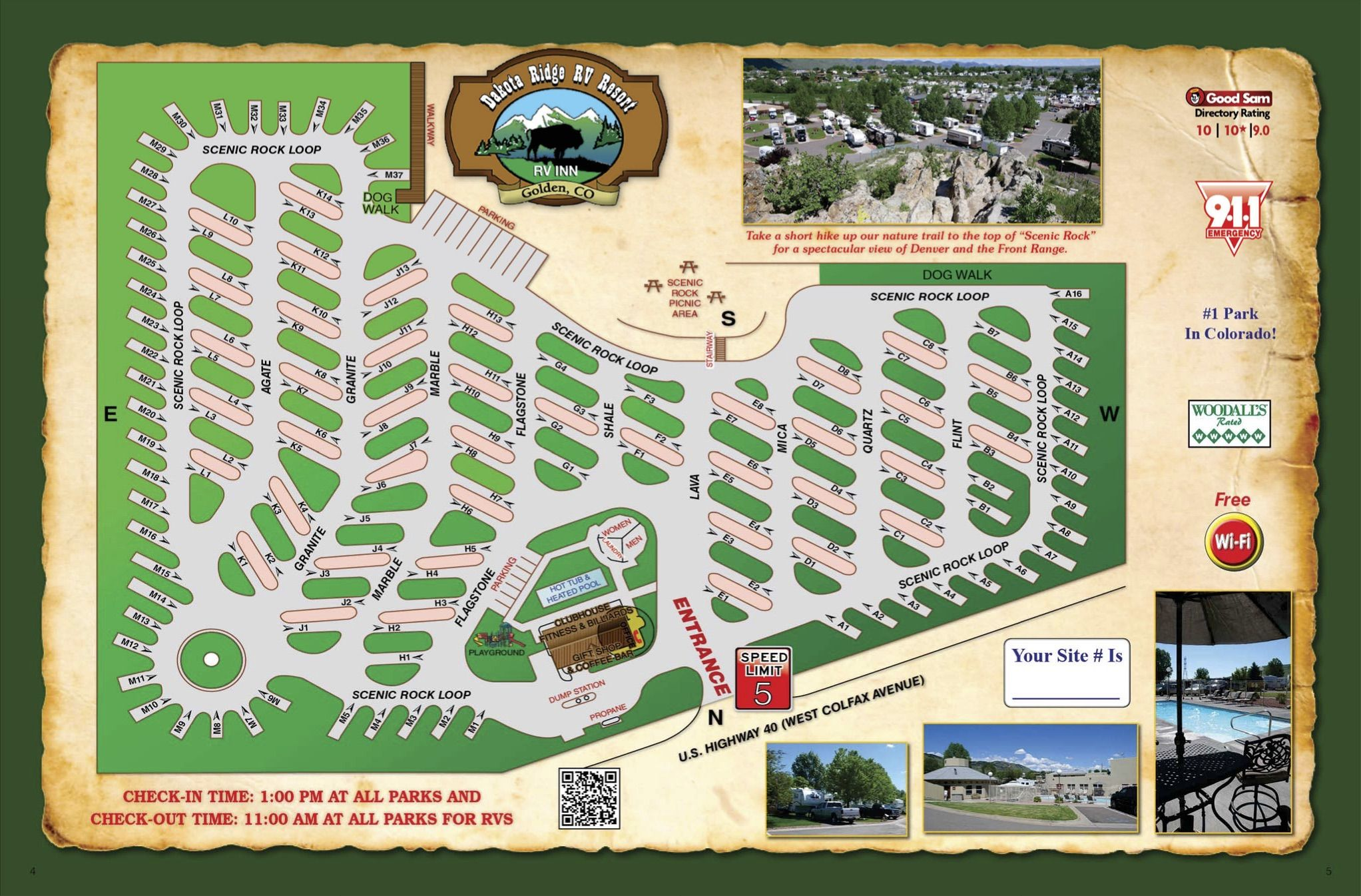 Campground Map Dakota Ridge Rv Resort 17800 West Colfax Avenue Golden Co 80401 With Images Rv Parks Recreational Vehicles Rv Travel