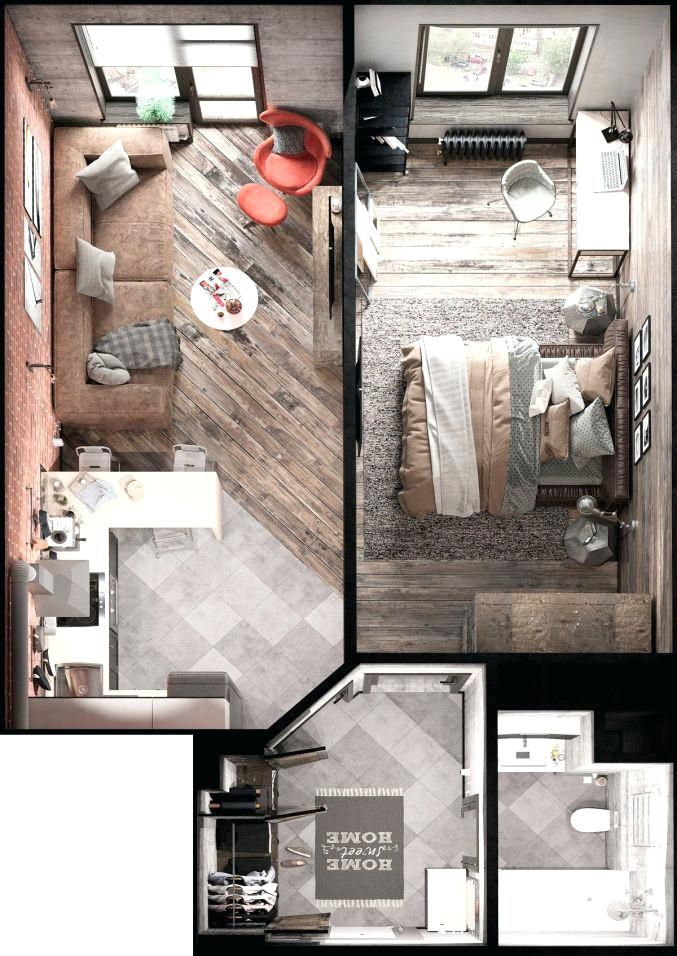 Small Apartment Plans Medium Size Of Room Efficiency