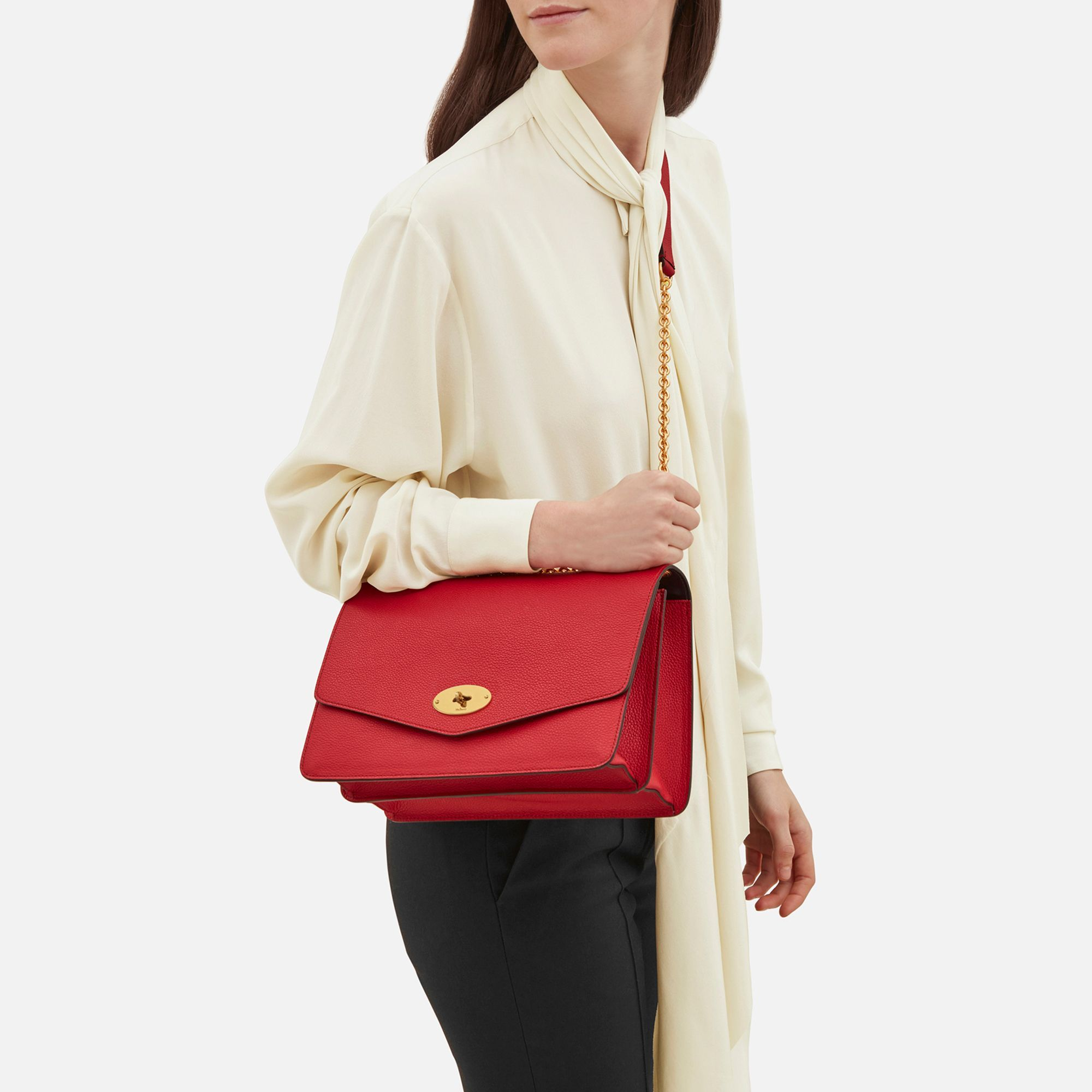 Shop the Large Darley in Scarlet Leather at Mulberry.com. The Darley is a 1b3c5fa151343