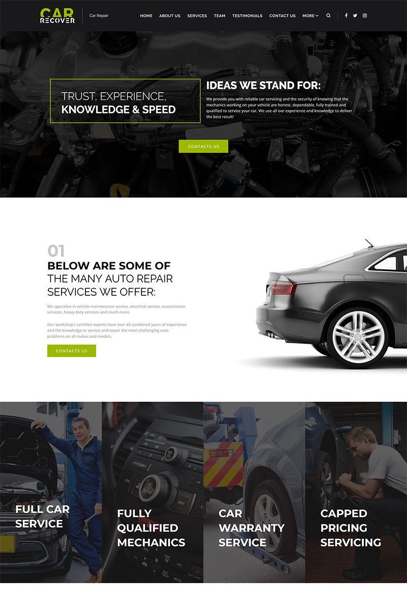 Car Recover Car Repair Responsive Wordpress Theme Wordpress Repair Recover Car Auto Repair Car Repair Service Wordpress Theme Responsive