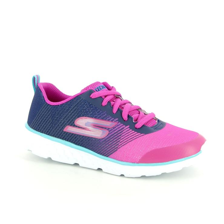 81353 go run 400 | Skechers, Navy pink