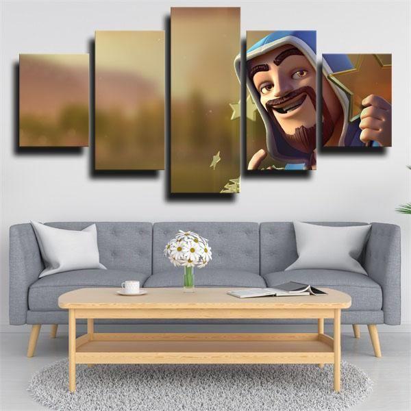 Piece Wall Art Canvas Prints Clash Royale Wizard #mugartideas