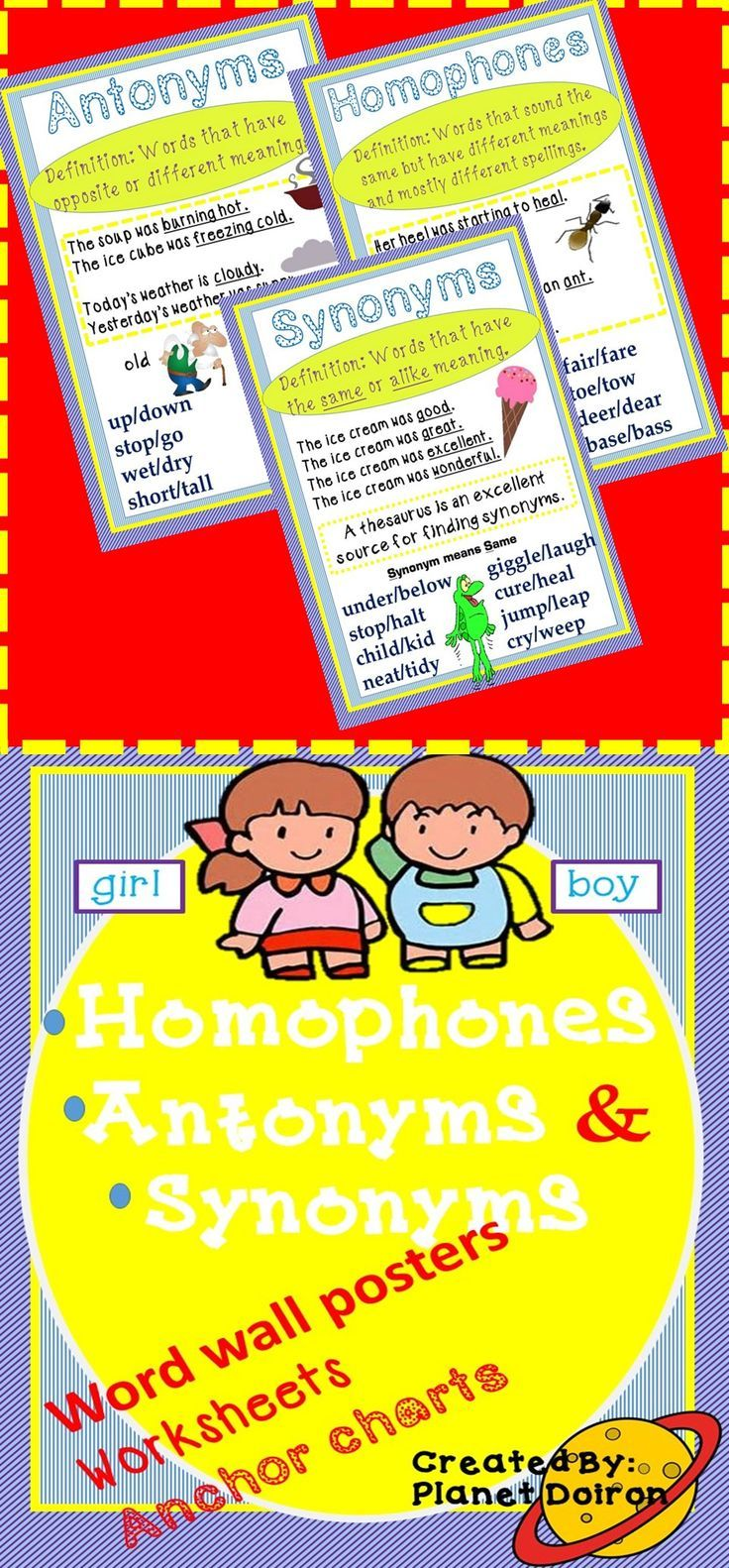 homophones synonyms antonyms grammar worksheets anchor