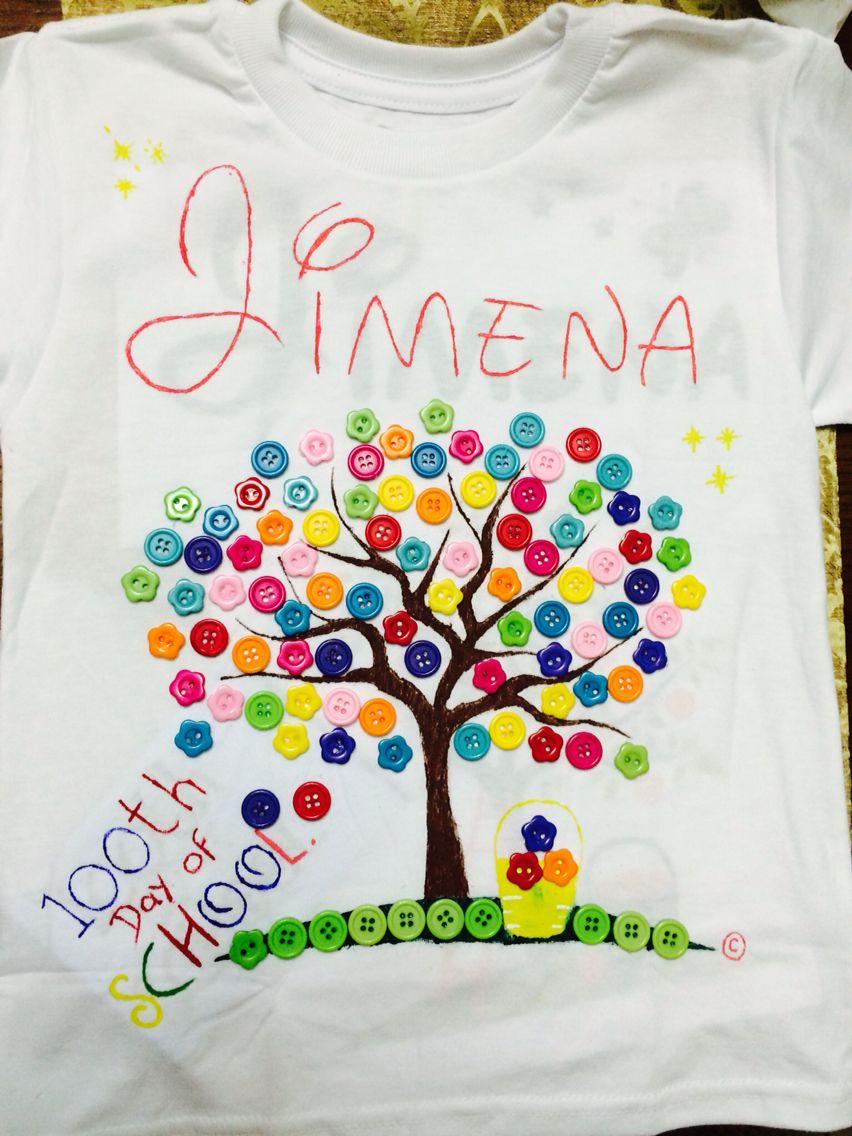 Tshirt 100 th day School | Crafts | Pinterest | 100 días, Escuela y ...