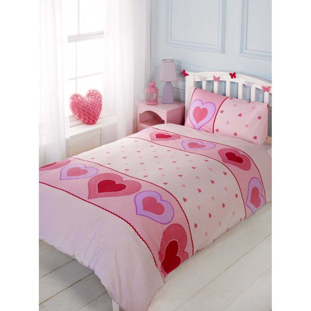 Pink Heart Motif Duvet Cover.