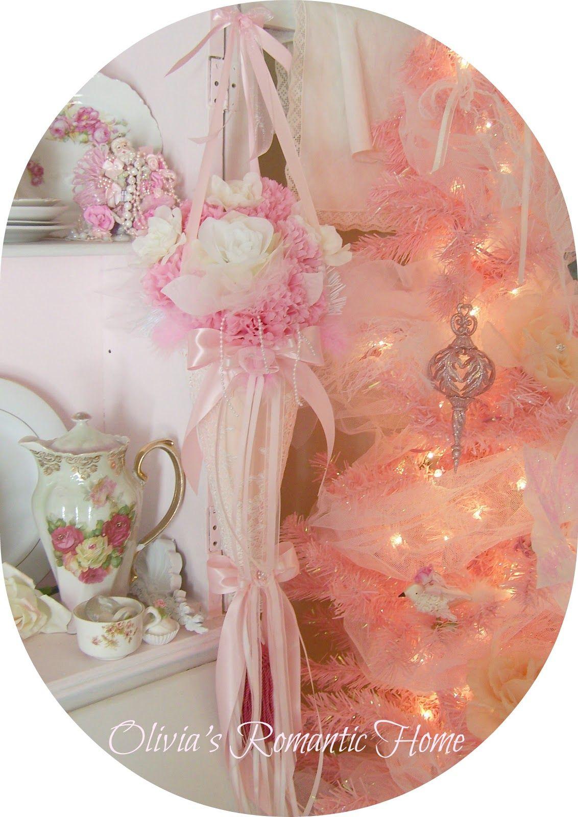 Olivia's Romantic Home   Pink Christmas   Pinterest ...