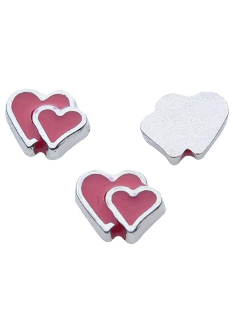 Yila metal ufloating charmu hearts with epoxy xmm