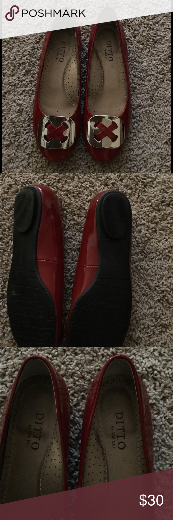 a01e25d3998 Ditto by Van Eli flats Beautiful deep red flats. Never worn however no  original box. Smoke free home. Reasonable offers welcomed!