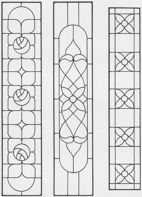 Sidelights, Fanlights and Transoms Stained Glass Pattern