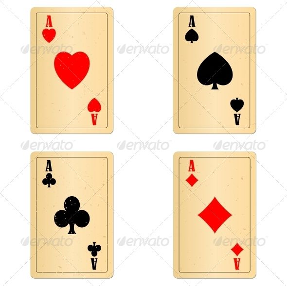 Blank Old Play Cards Four Aces Card Template Blank Playing Cards Card Templates