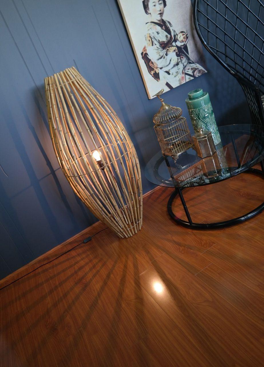 1960s Bamboo Rocket Lamp - Gold Label Vintage