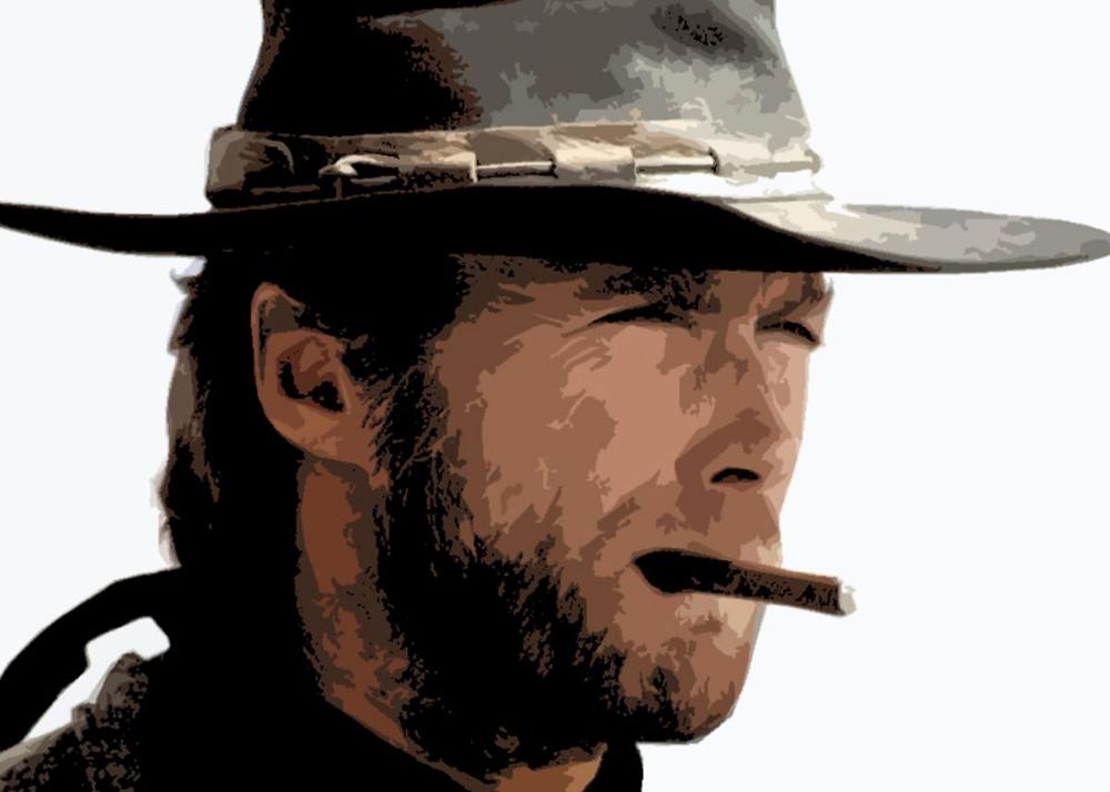 Eastwood Cowboy Pop Art Poster Art Print By Nick Lopez Displate Pop Art Clint Clint Eastwood