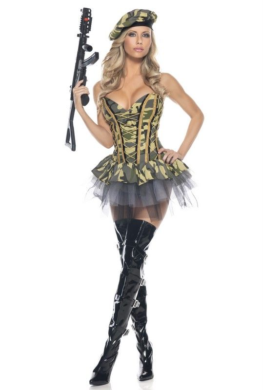 8d2e81436 HOT~~Sexy Army Commando Officer 3-PC Adult Outfit Halloween Costume 1056 in  Clothing