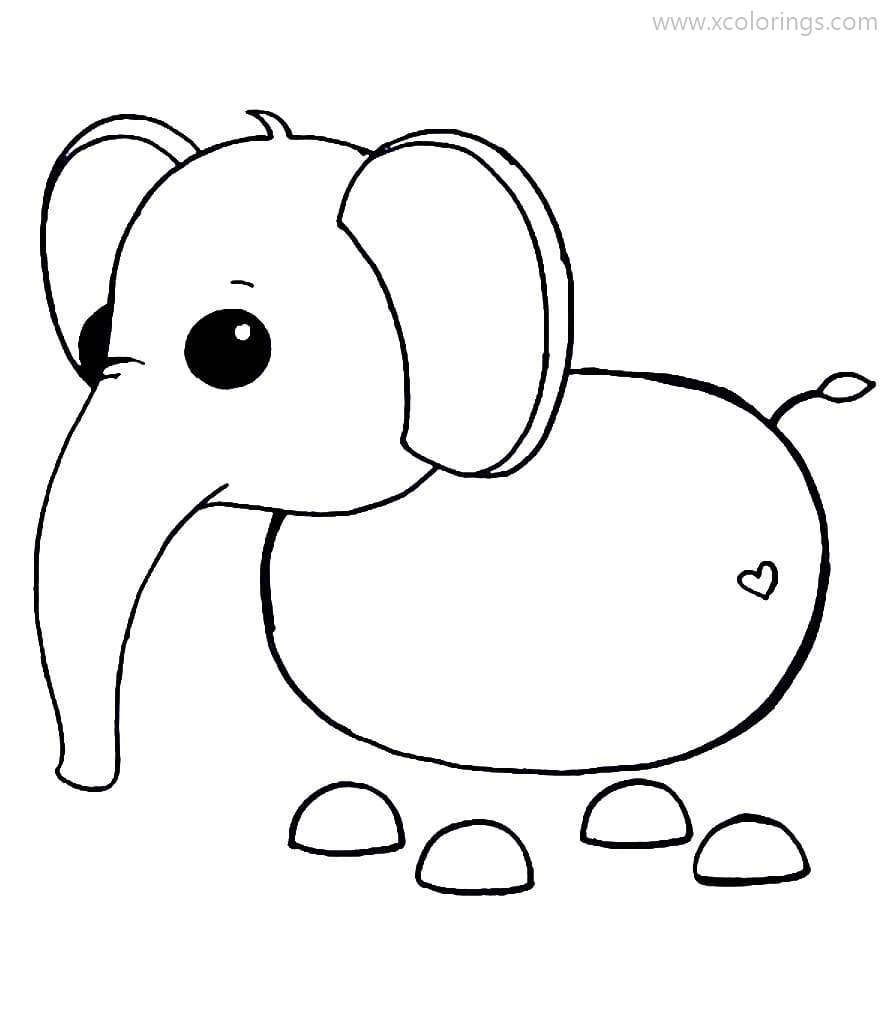 Roblox Adopt Me Coloring Pages Elephant In 2020 Cool Coloring Pages Coloring Pages Roblox