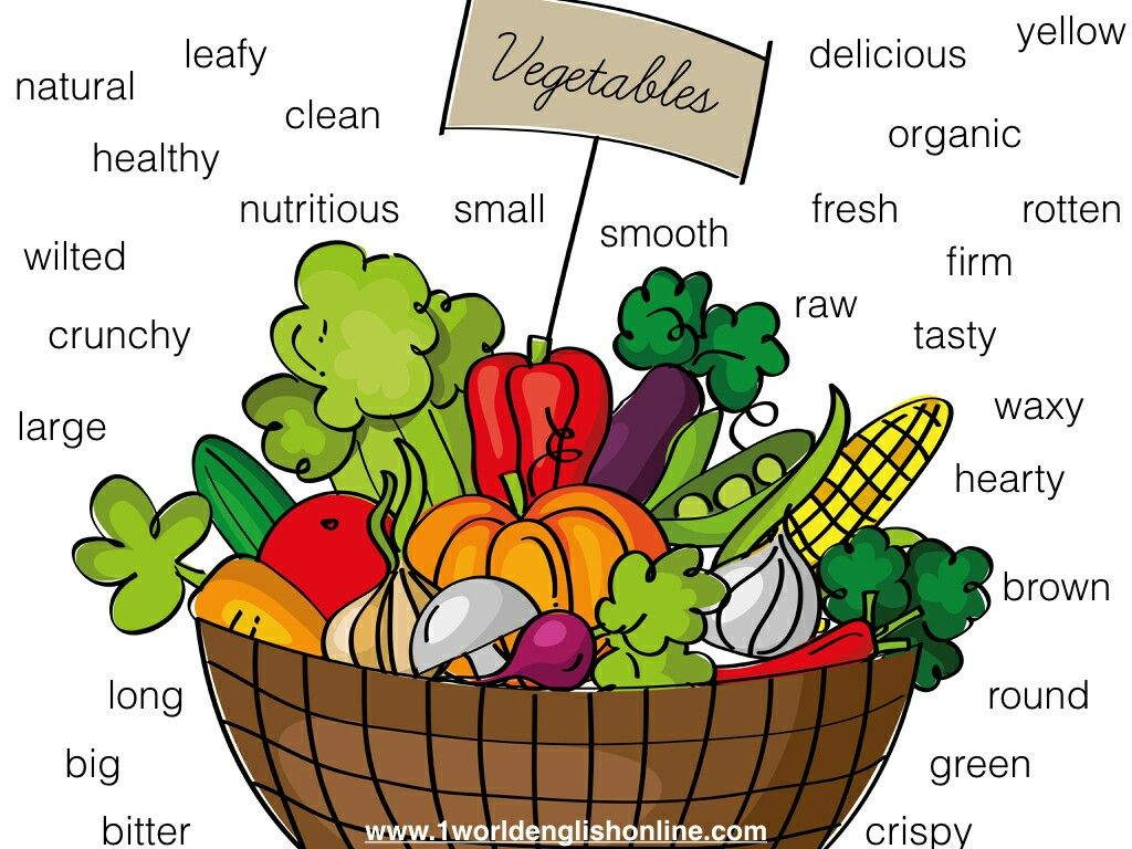 Adjectives Describing Vegetables