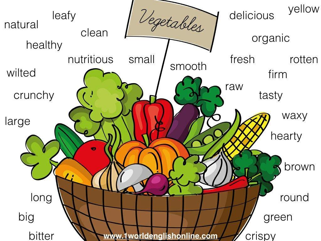 Adjectives Describing Vegetables