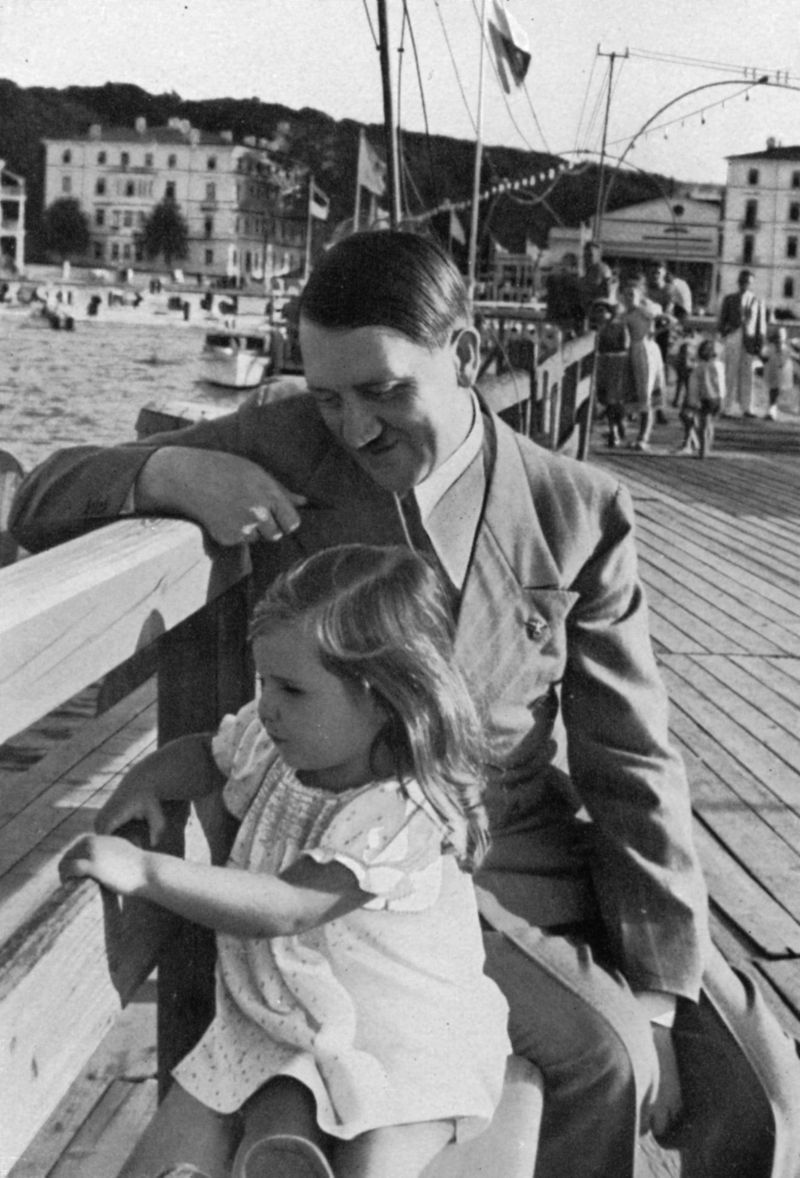 These pictures of Adolf Hitler with Helga Goebbels, his favorite little girl, show another side of the Fuhrer.