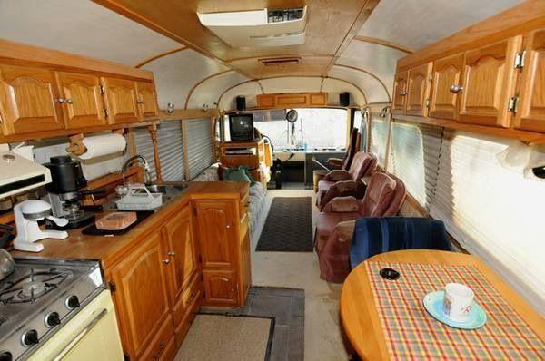 pin by linn robinson on school bus camper pinterest bus rh pinterest com r v bushell Bus RV Inside