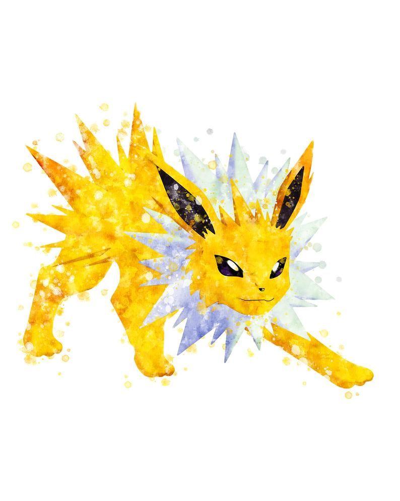 Pokémon ポケモン Jolteon S Printable Painting At Etsy Pokemon Painting Pokemon Pokemon Art