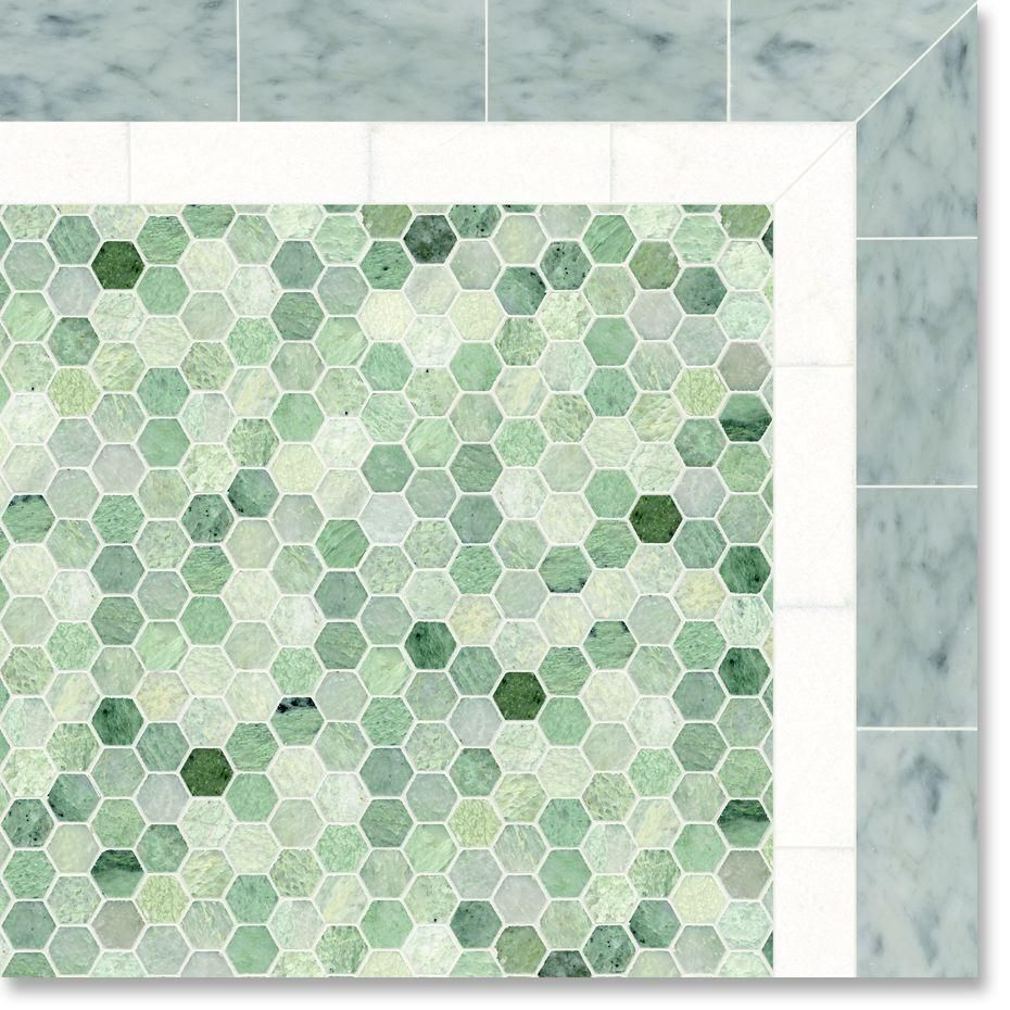 Picture Of Ming Green Marble Tiles For The Elegant Home Decor Green Mosaic Tiles Green Marble Elegant Home Decor
