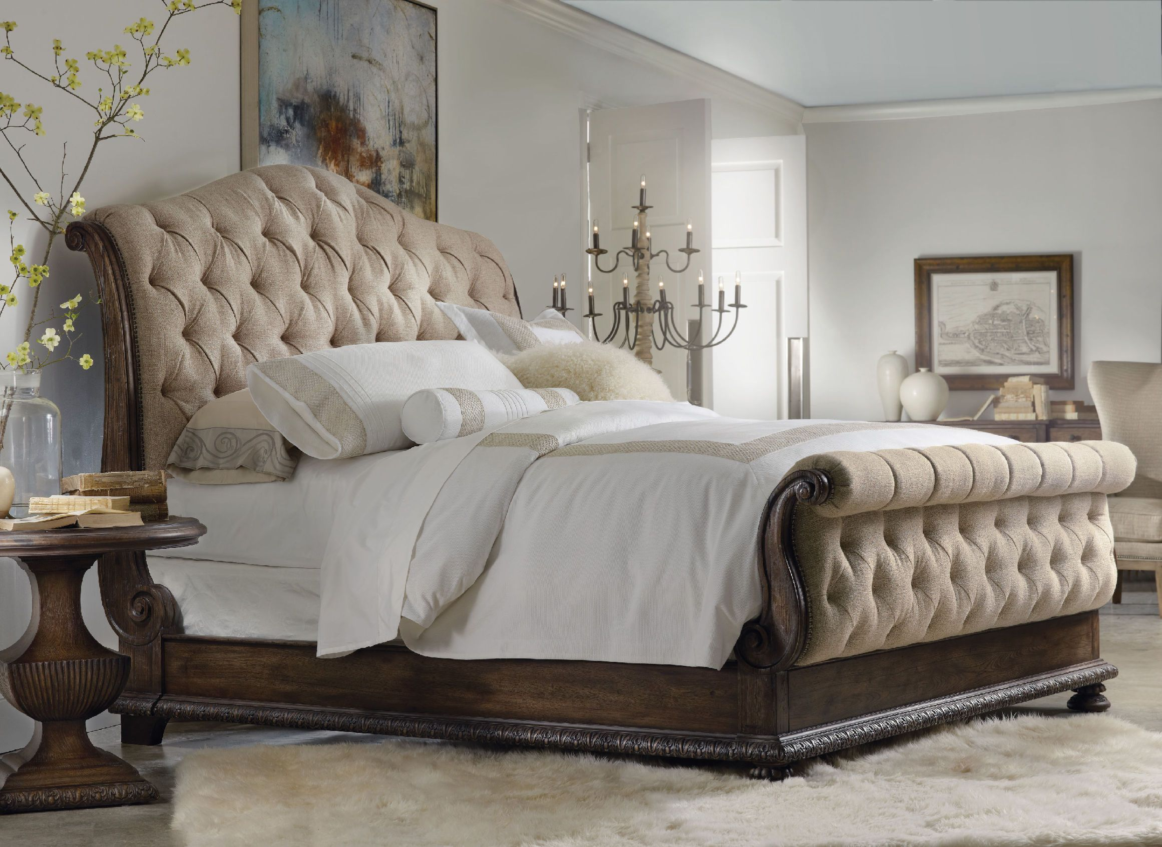 King Bedroom Furniture Hooker Furniture Bedroom Rhapsody King Tufted Bed 5070 90566