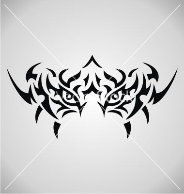 Tribal Tiger Eyes Vector Image On Vectorstock Tribal Tiger Tattoo Tribal Tiger Tiger Eyes Tattoo