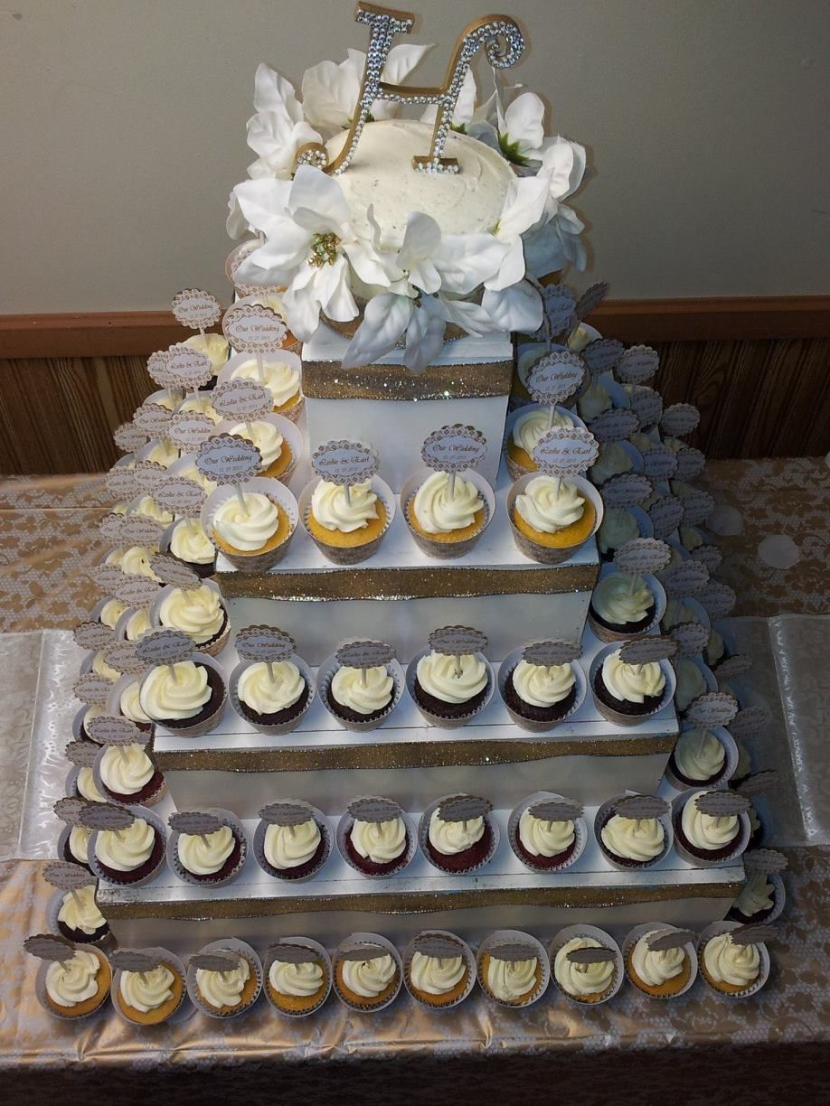 Gold Cupcake Tower Jusalpha 3 Tier Strong Acrylic Square