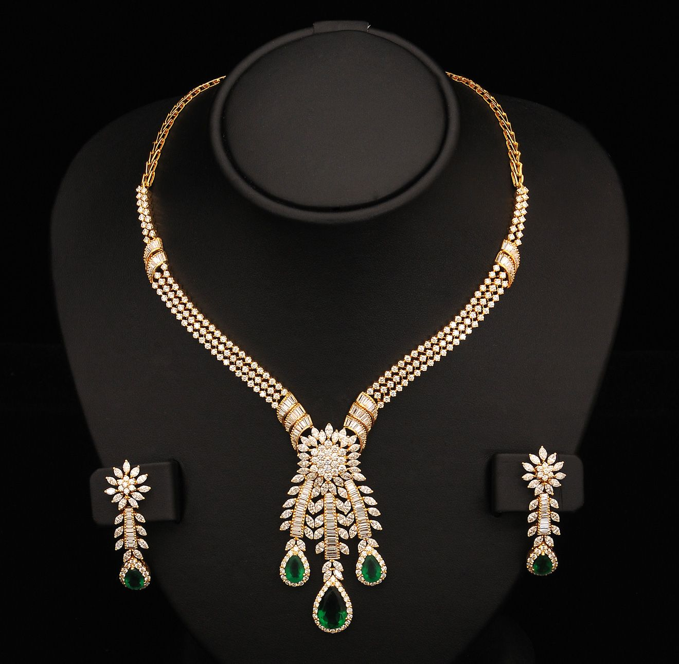 necklace designs diamond haram jewellery set indian and
