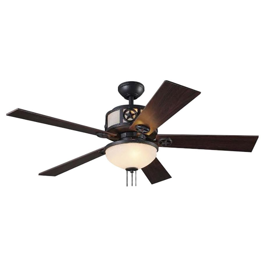 Shop Harbor Breeze Thoroughbred 52 In Matte Black Downrod Mount Indoor Residential Ceiling Fan With Light Kit At L Ceiling Fan With Light Fan Light Ceiling Fan