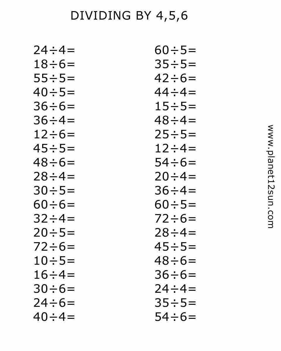 Dividing by 4,5,6 | Vzdělávání | Pinterest | Aula