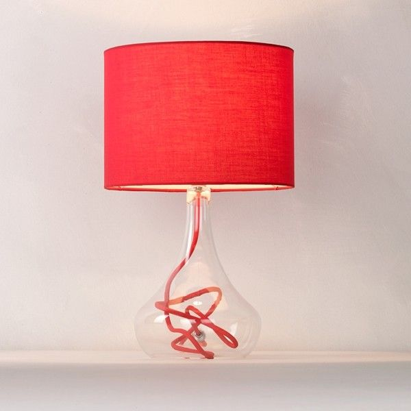 John Lewis Jolie Table Lamp Red Contemporary Table Lamps - Red table lamps for bedroom