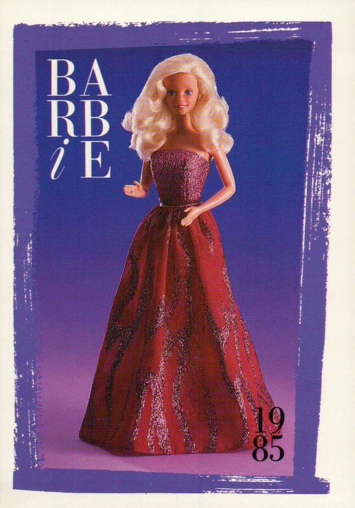 "Barbie Collectible Fashion Card "" Spectacular Fashions "" 1985"