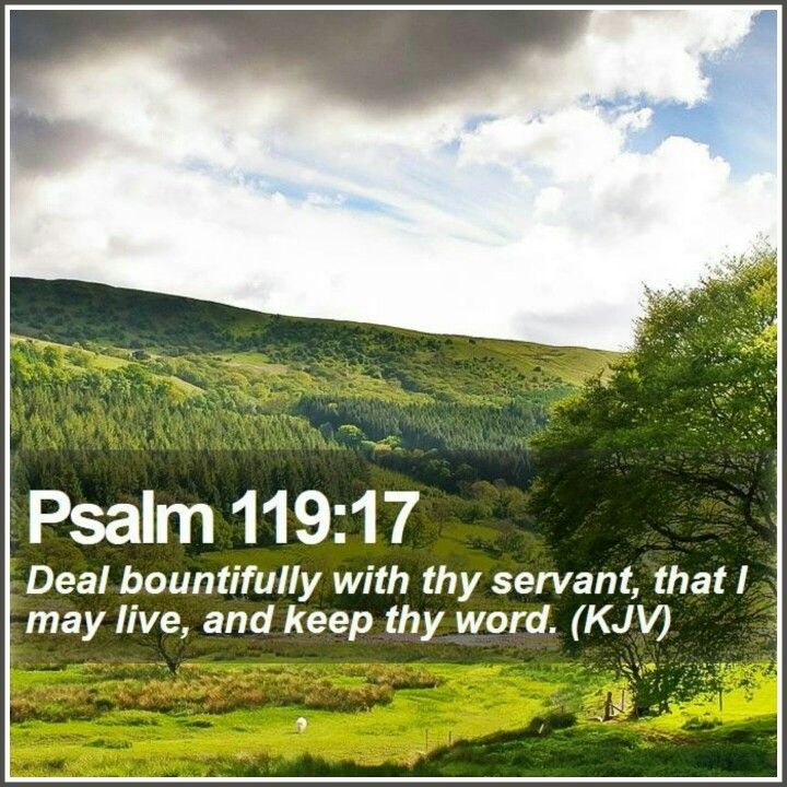 "KEEP"" Psalms 119:17 Deal bountifully with thy servant, that I may ..."