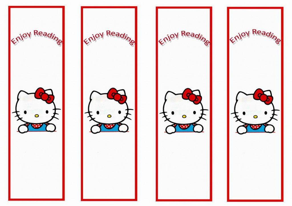 Hello Kitty Bookmarks \u2013 Birthday Printable Childrens crafts