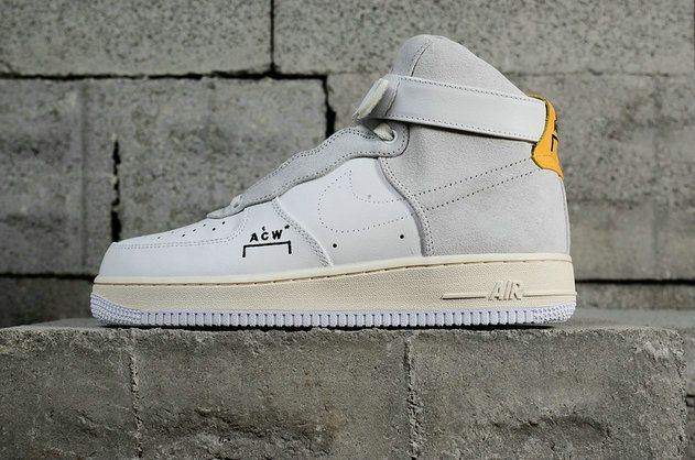 big sale 1005c 3dad0 A Cold Wall x Big Boys Nike Air Force 1 Youth ACW Samuel Ross AF1 White  Grey Yellow