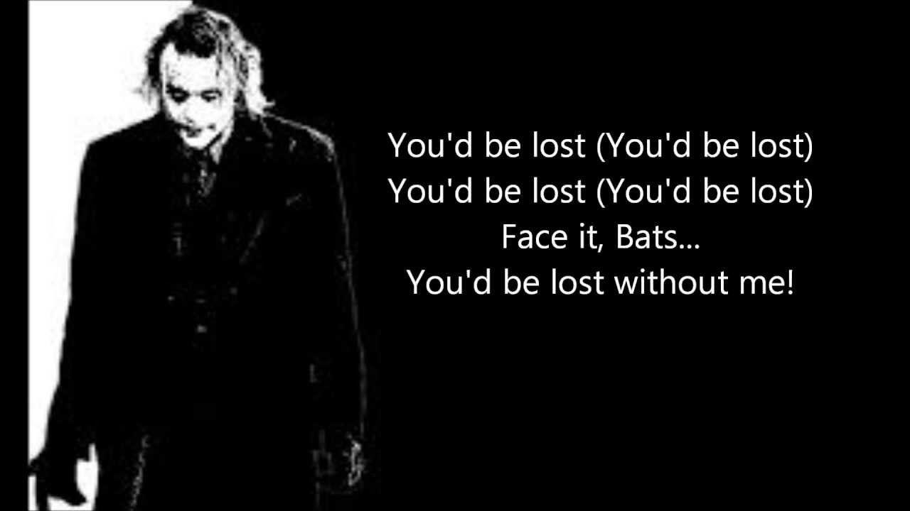Miracle Of Sound The Joker S Song Lyrics Youtube Joker Comic Songs Joker