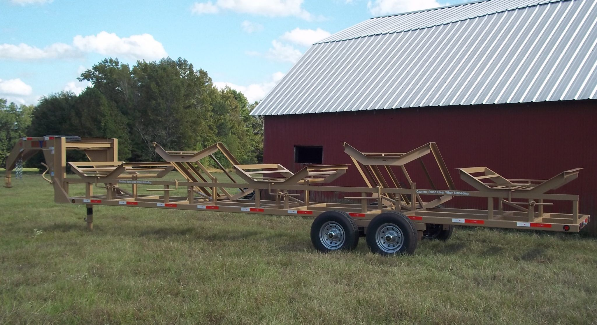Neckover 5 Bale Hay Trailer Dump trailers, Custom